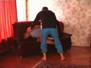 Russian Mature is Roughly Fucked by a Neighbors Son