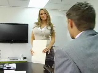 Blond With Huge Tits Creates Some Office Fun
