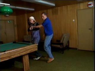Blonde Mature Woman Fucked on Billiard Table