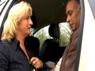 Older Woman takes her Fare from a Mans Cock