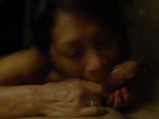 Asian Uses Mouth to do Magic and make a Cock Disappear