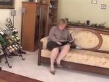 Horny Italian Granny Fucked Younger Guy in her Place