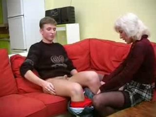 Russian Blonde Mature Woman Abuse Teen Student