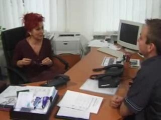 Young Guy was Interviewed by a Mature Female Boss
