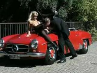 Milf wants Love on the Hood of a Car