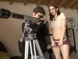 Sexy Red Head Spies on Neighbors and gets Fucked