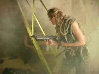 Soldier Girl Gets Anal Fucked In Basement By Enemy