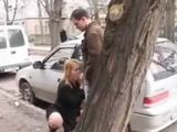 Amateur Young Mom Public Street Blowjob