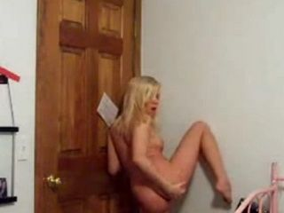 Blonde Teen Dances And Masturbates on Webcam