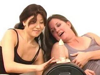 Lesbian Girls Likes Dildo More Than Man