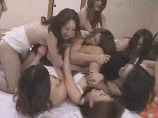 Bunch Of Japanese Girls Fuck One Guy