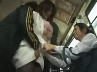 Mother and Daughter Gets Groped and  Violated In Japanese Bus