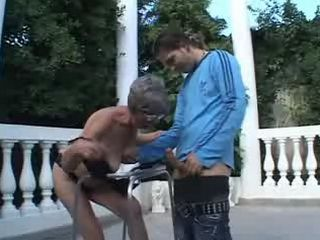 Grandma on strollers seduced guy