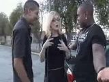 Business Blond Gets Cornered By Some Ghetto Black Cocks