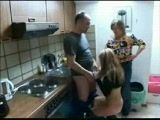 Mother and Daughter Gets Fucked In Kitchen By Plumber xLx