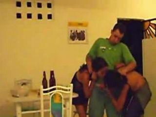 Amateur Latinoamerican Homemade Threesome