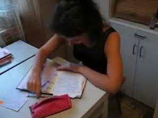 Russian Schoolgirl Takes A Sex Break