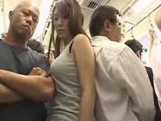 Japanese Big Boobs Girl molested on a train