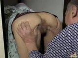 Old bastard fucks young Asian maid