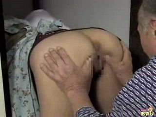 Old bastard fucks young Asian maid