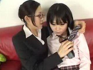 Japanese Lesbian Licking Jyuri & Ibuki xLx