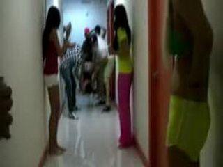 Naked girls in the dorm