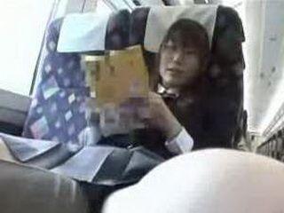 asian studentgirl in train