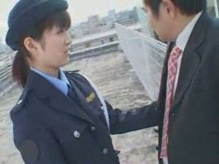 Japanese Cop Reward with Blowjob Naughty Citizen