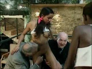 3 Grandpa Fucks 2 Black Girls