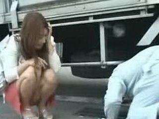 Japanese Hot Lady Is So Horny That She Attacks Guy And Fucks Him