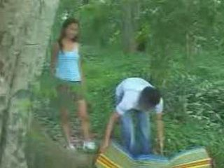 Asian Girl Fucked In The Forest