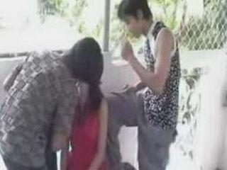 Asian Teen Girl Fucked Up Pretty Hard At The Public Balcony