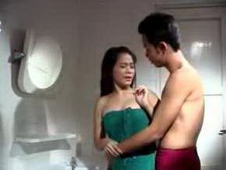 Horny Asian Couple Having Sex In The Bathroom