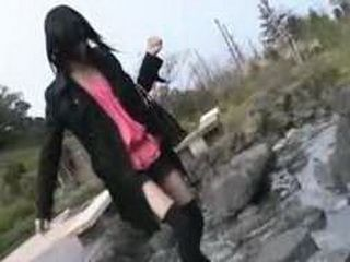 Sexy Japanese Model Gets Fucked On The Beach