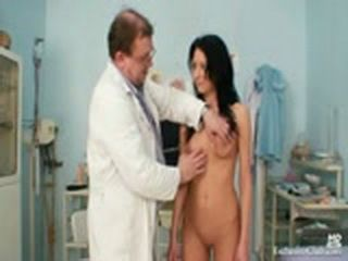 Gabina humiliated during kinky gyno speculum exam
