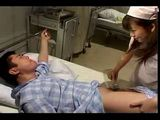 Japanese Nurse Having A Special Treatment For This Patient