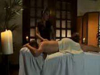 Asa Akira gives blowjob in massage parlor