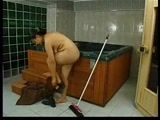 Mature Maid Decides To Try Owners Jacuzzi But Gets Caught