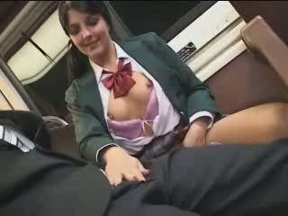 European Exchange Student In Japanese Bus