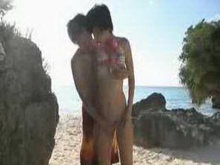 Hot Japanese Teen Girl IN Bikini Fucked On The Public Beach
