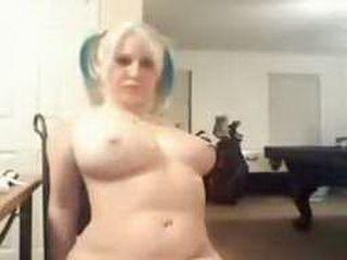 Chubby Emo Teen Masturbating