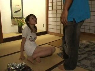 Japanese Wife Blackmailed and Fucked By Her Drunk Sleeping Husband