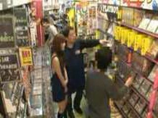 Attraction In Shop - Japanese Girl Having A Public Sex