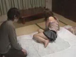 Horny Japanese Girl Sharing A Secret With His Young Nephew