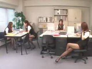 Japanese Boss Trying To Get Something From His Female Employers