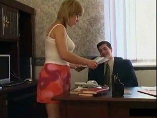 Mature Russian Secretary Fuck Young Boss