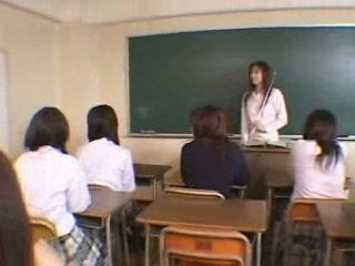 Shy Japanese Boy Abused By His Girl Classmates and Teacher During The Class