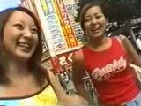 Happy Japanese Girls Stopped On The Street And Asked To Swallow Sperm