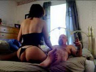 Horny amateur wife rides hubby's hard cock