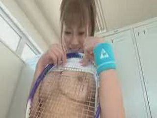 Sexy Japanese Girl Having Sex With Her Couch Before Tennis Match